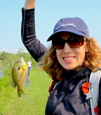 Fly fishing success! Photo credit: Alberto Rey.