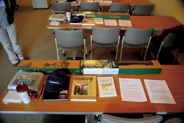 Conference participants receive a fly rod outfit, fly tying kit and educational publications as part of the program. Photo credit: Alberto Rey.
